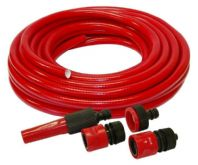 15mtr Garden Hose Complete With Pipe Fittings + Tap Threads Hozelock Compatible